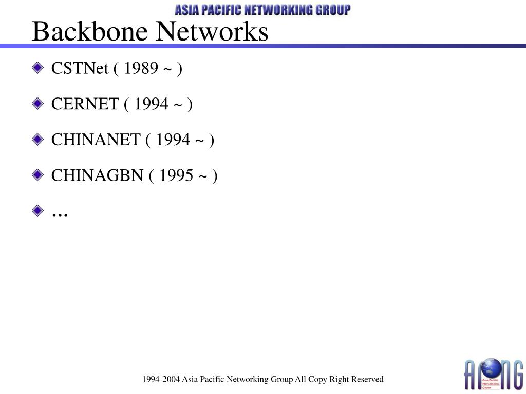 Backbone Networks