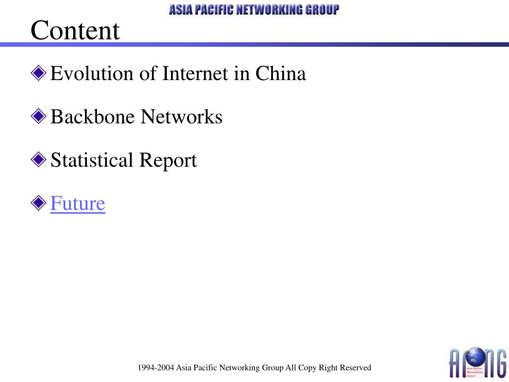 Evolution of Internet in China