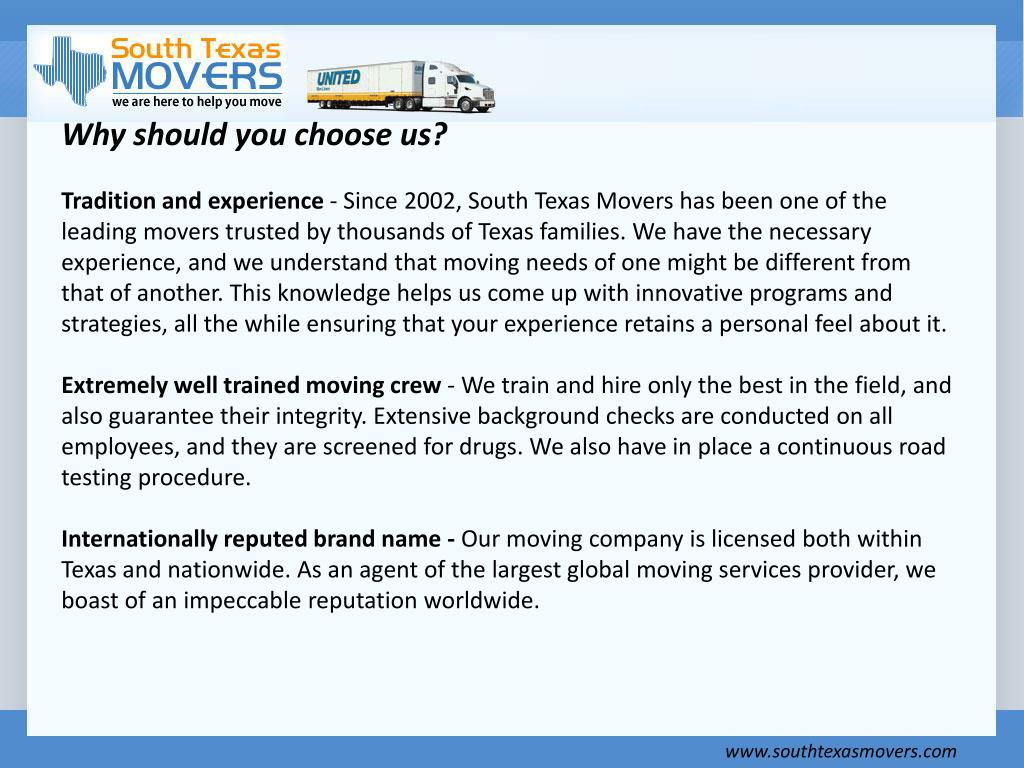 Why should you choose us?