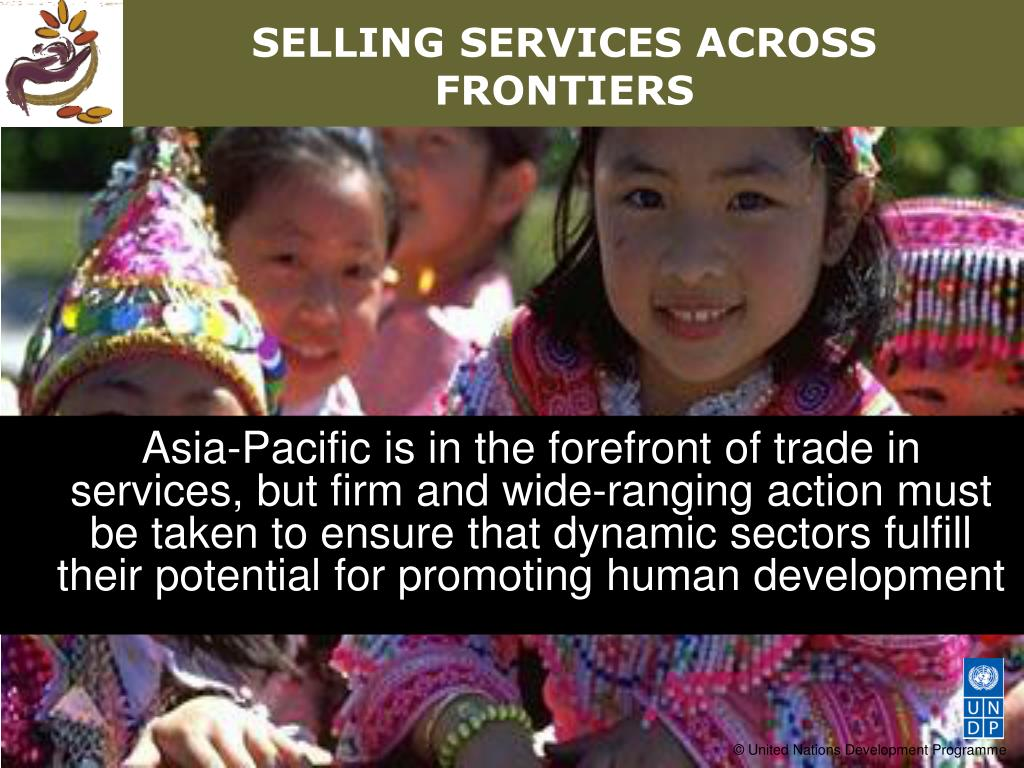 SELLING SERVICES ACROSS FRONTIERS