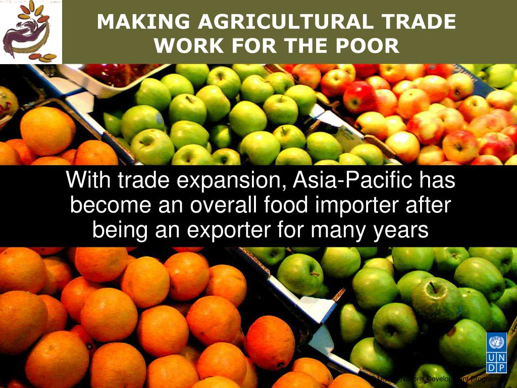MAKING AGRICULTURAL TRADE WORK FOR THE POOR