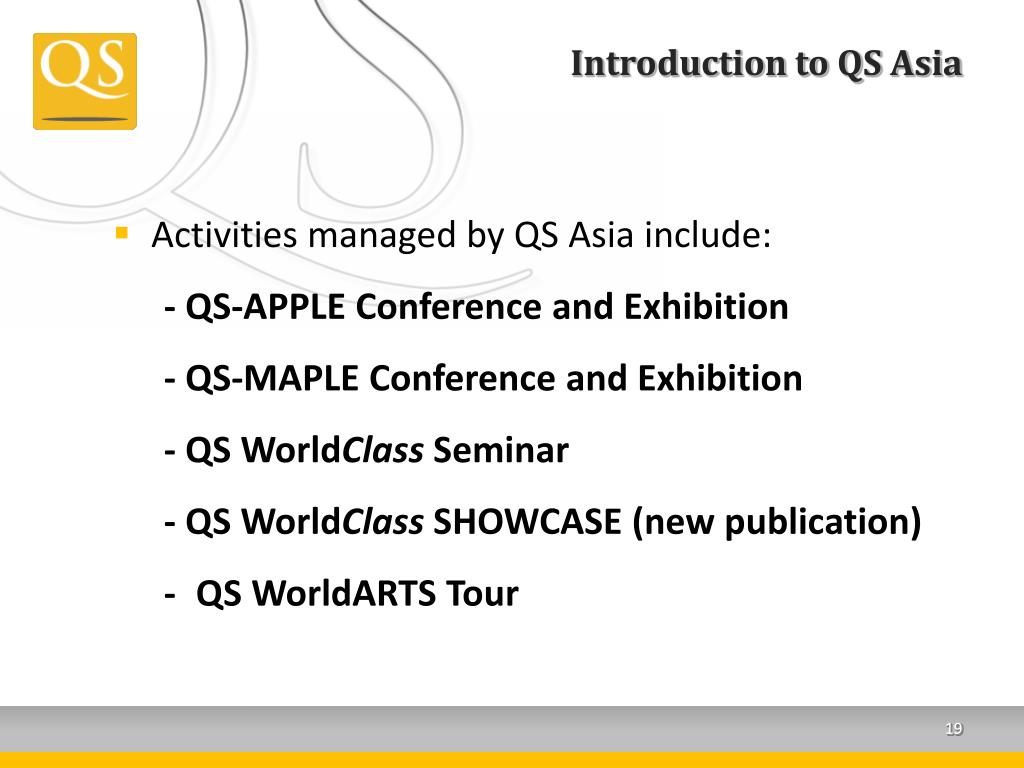 Introduction to QS Asia
