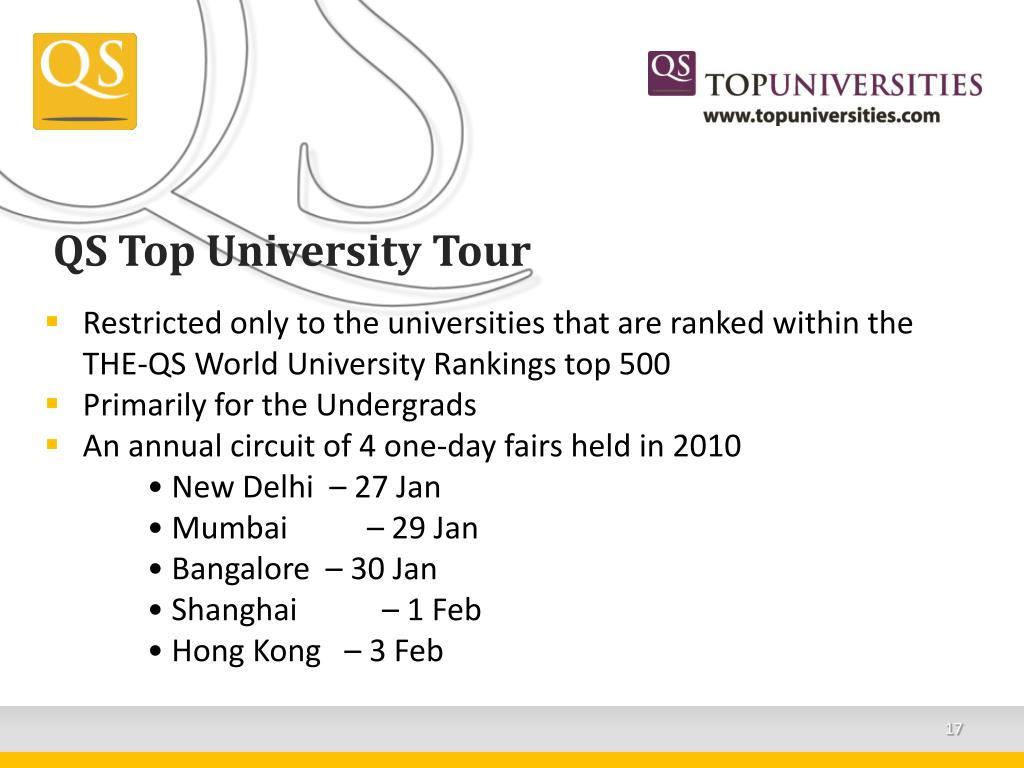 QS Top University Tour