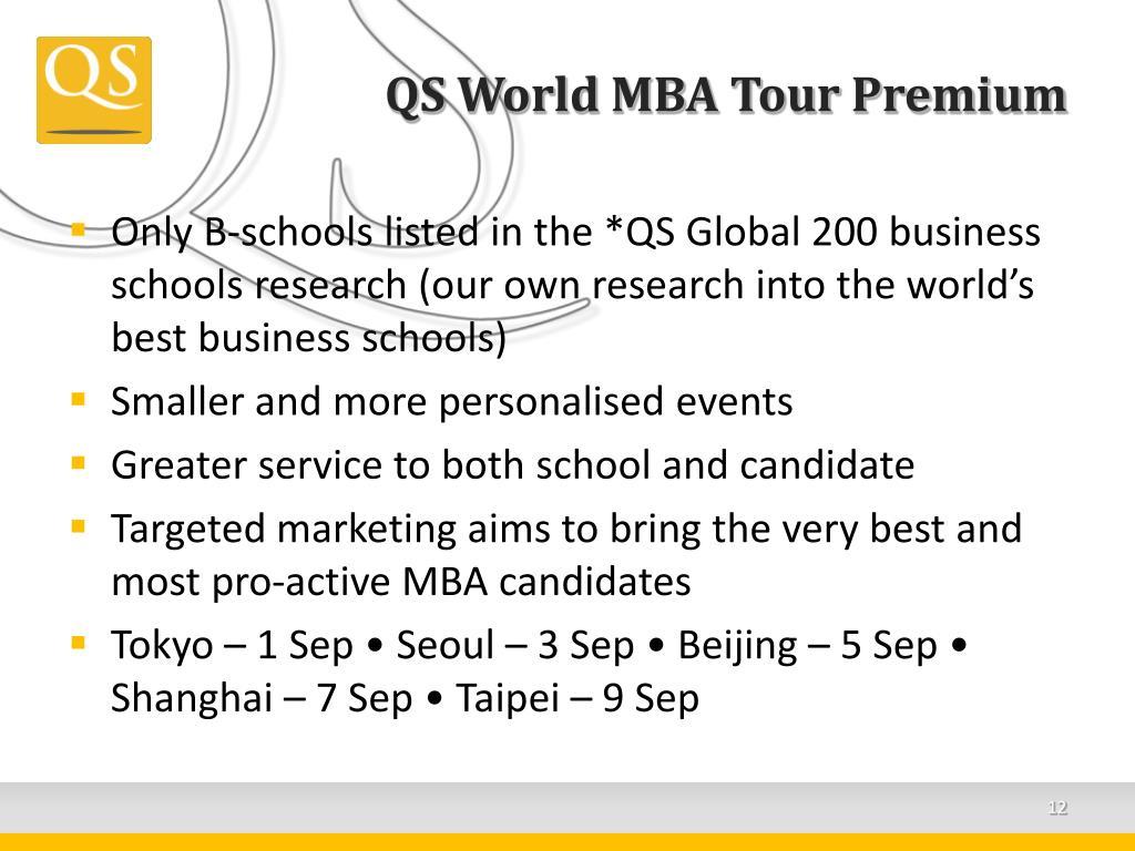 QS World MBA Tour Premium