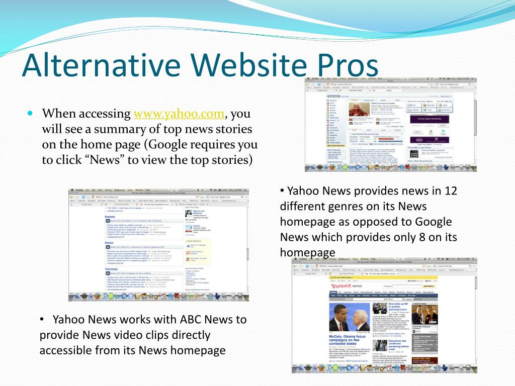 Alternative Website Pros