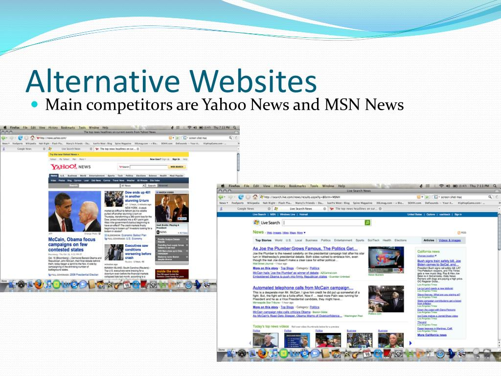 Alternative Websites