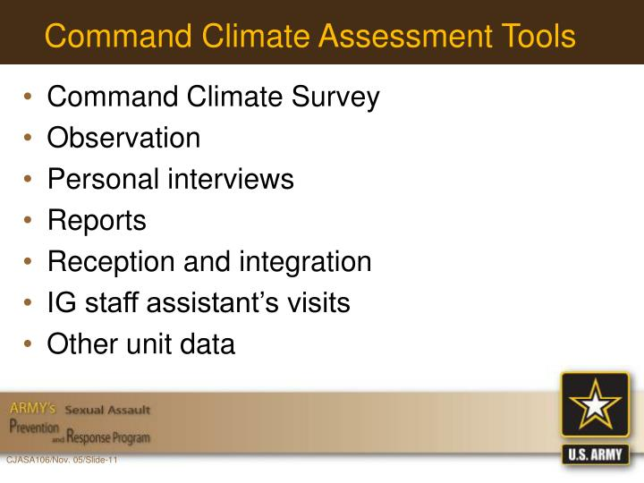 Command Climate Assessment Tools
