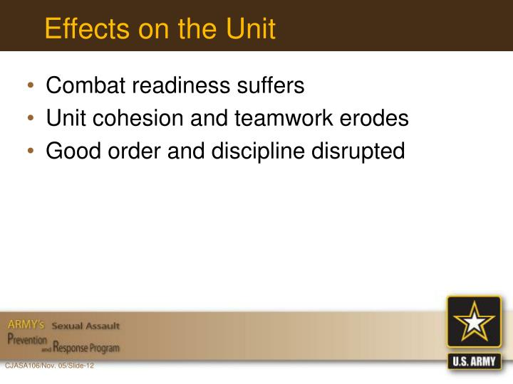 Effects on the Unit