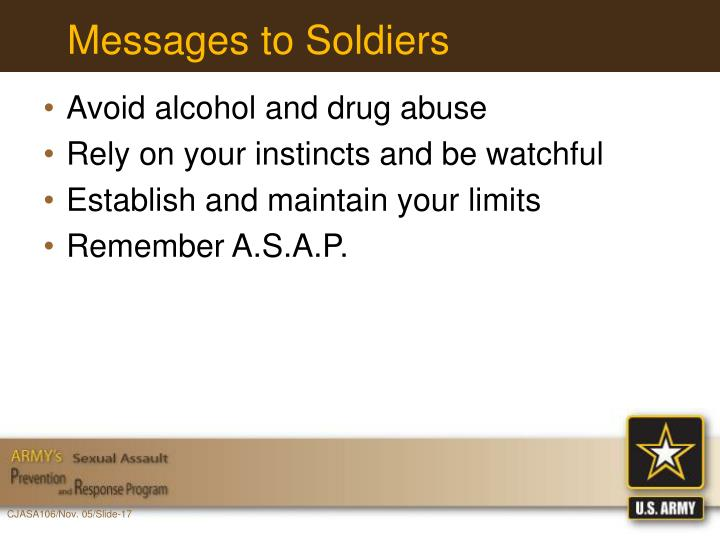 Messages to Soldiers