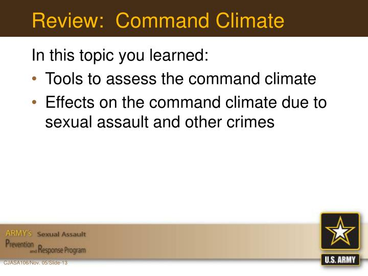 Review:  Command Climate