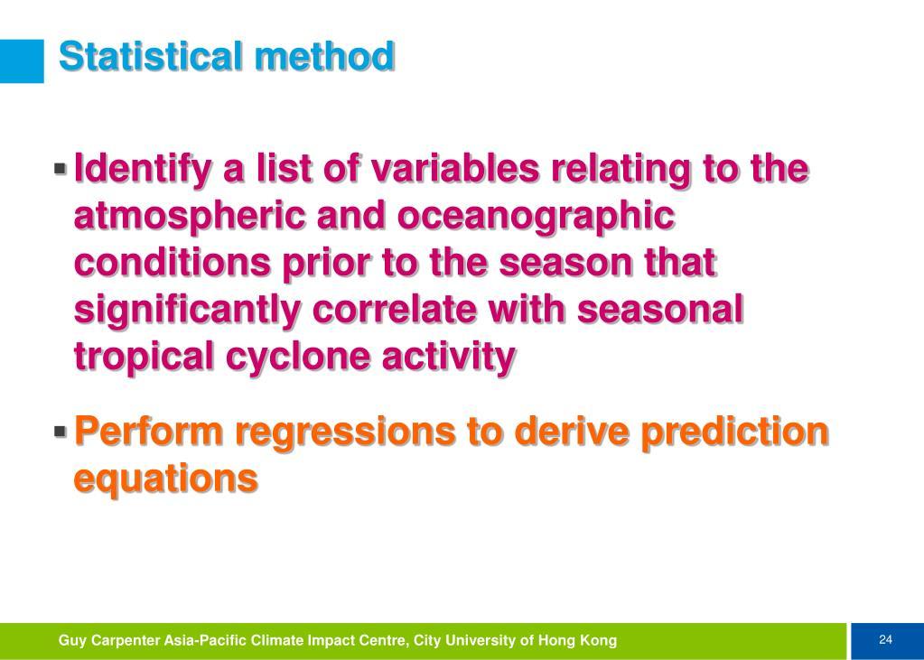 Statistical method