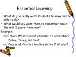essential learning