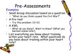 pre assessments2