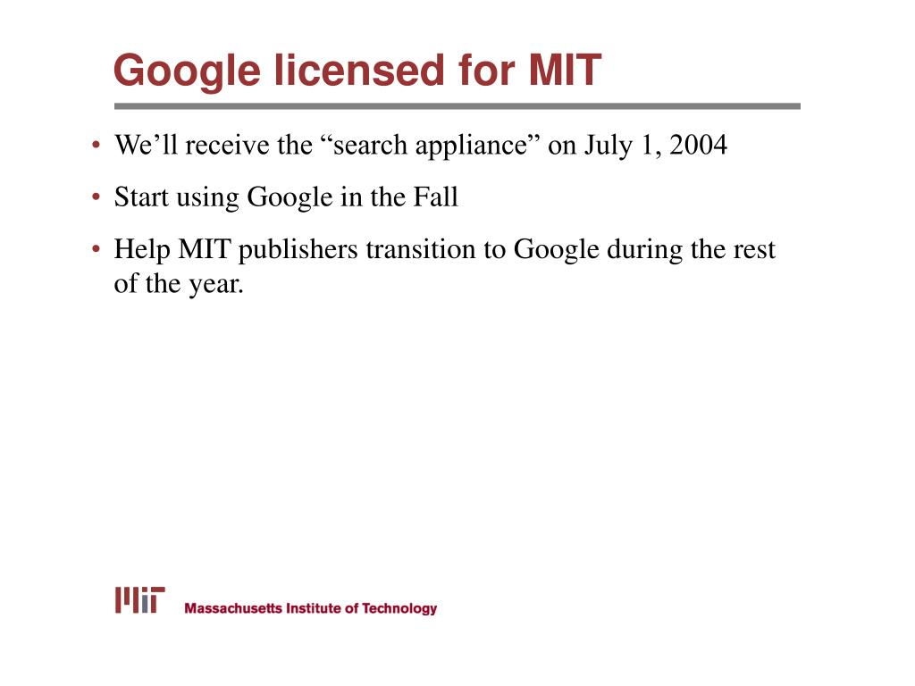 Google licensed for MIT