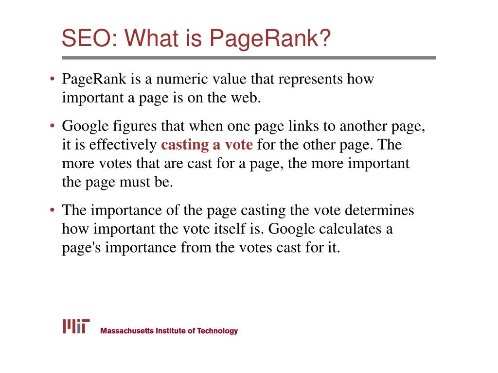 SEO: What is PageRank?