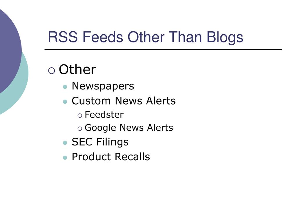 RSS Feeds Other Than Blogs