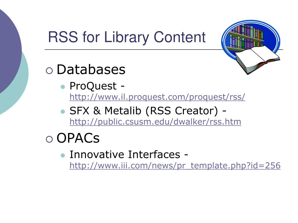 RSS for Library Content