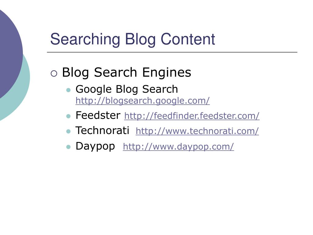 Searching Blog Content