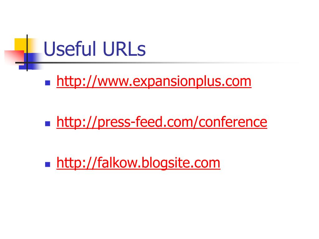 Useful URLs