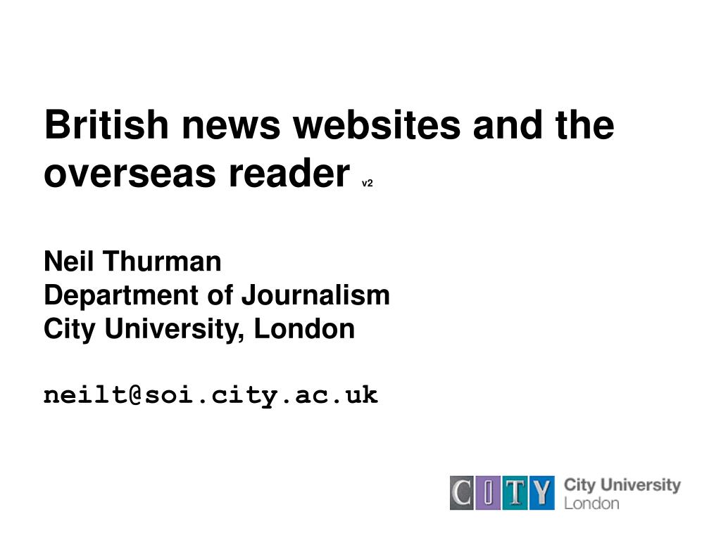 British news websites and the overseas reader