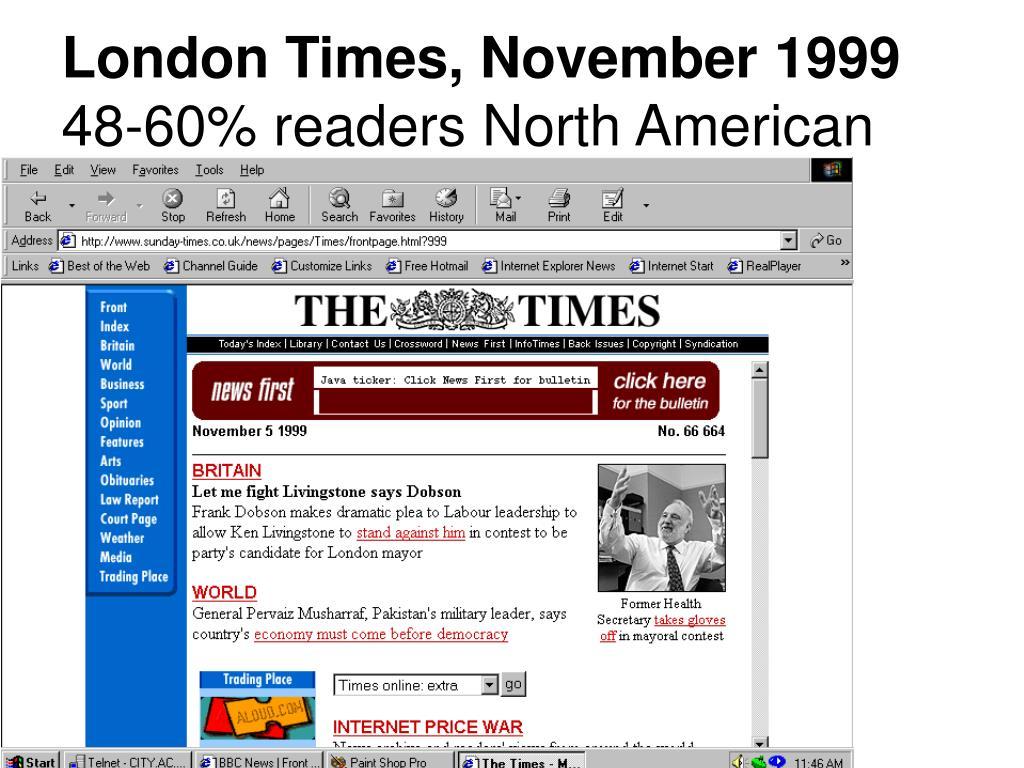 London Times, November 1999