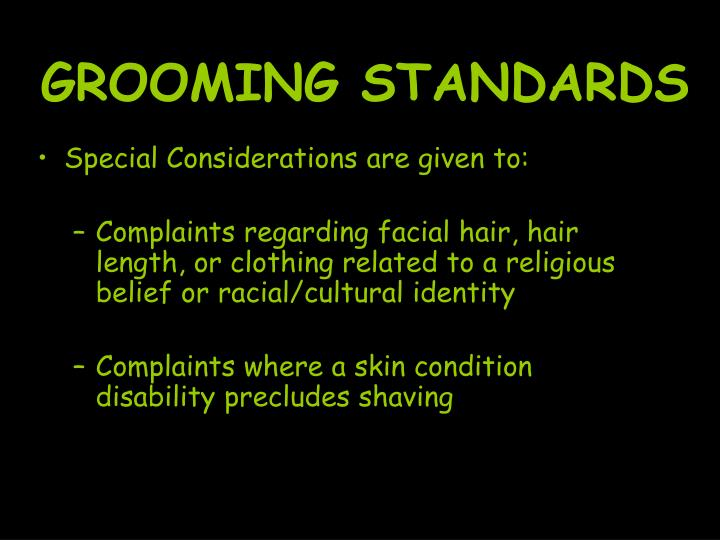 GROOMING STANDARDS