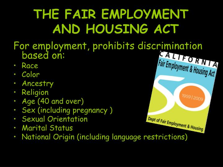 THE FAIR EMPLOYMENT