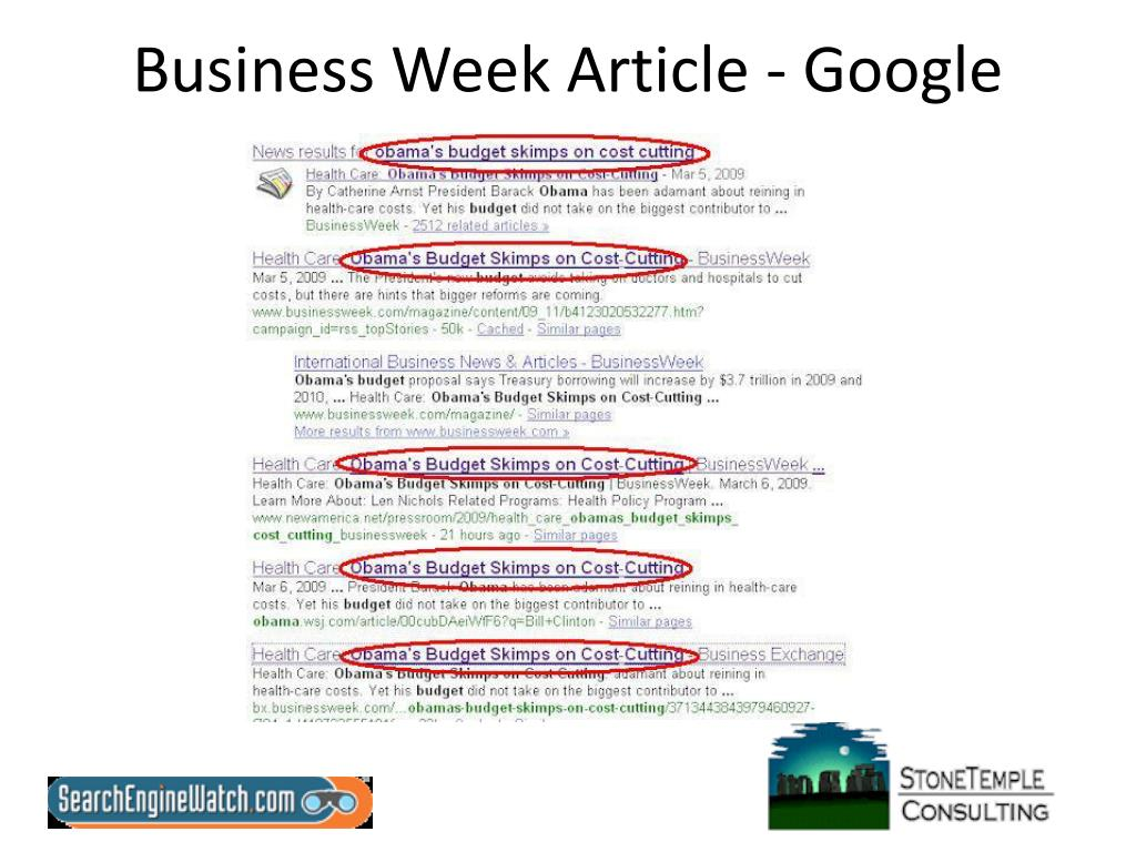 Business Week Article - Google