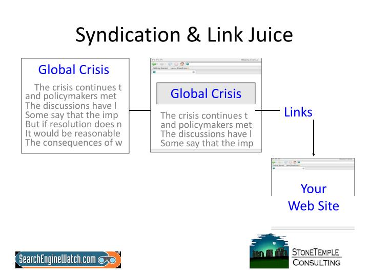 Syndication link juice