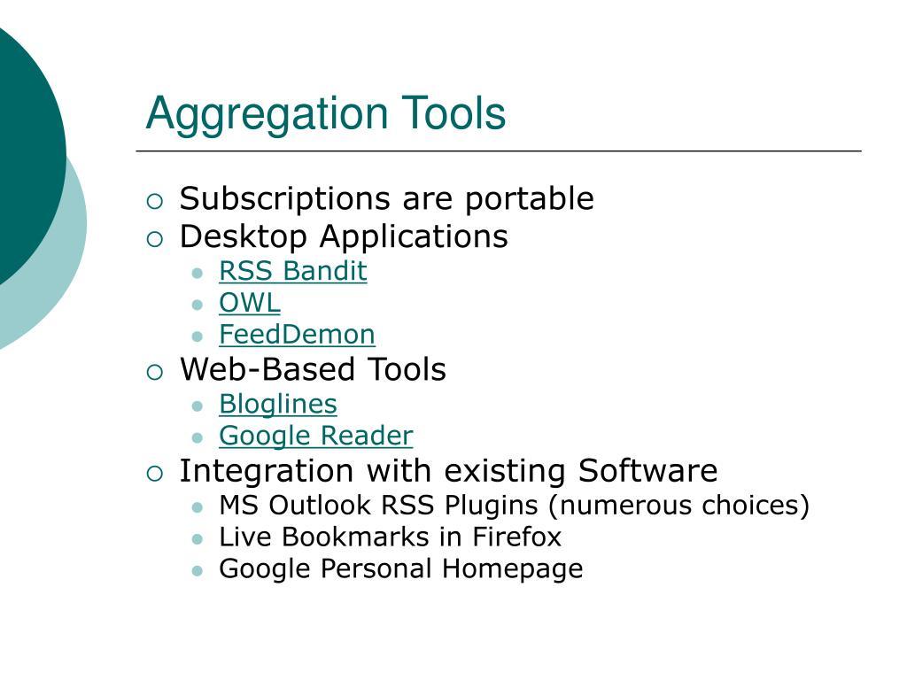 Aggregation Tools