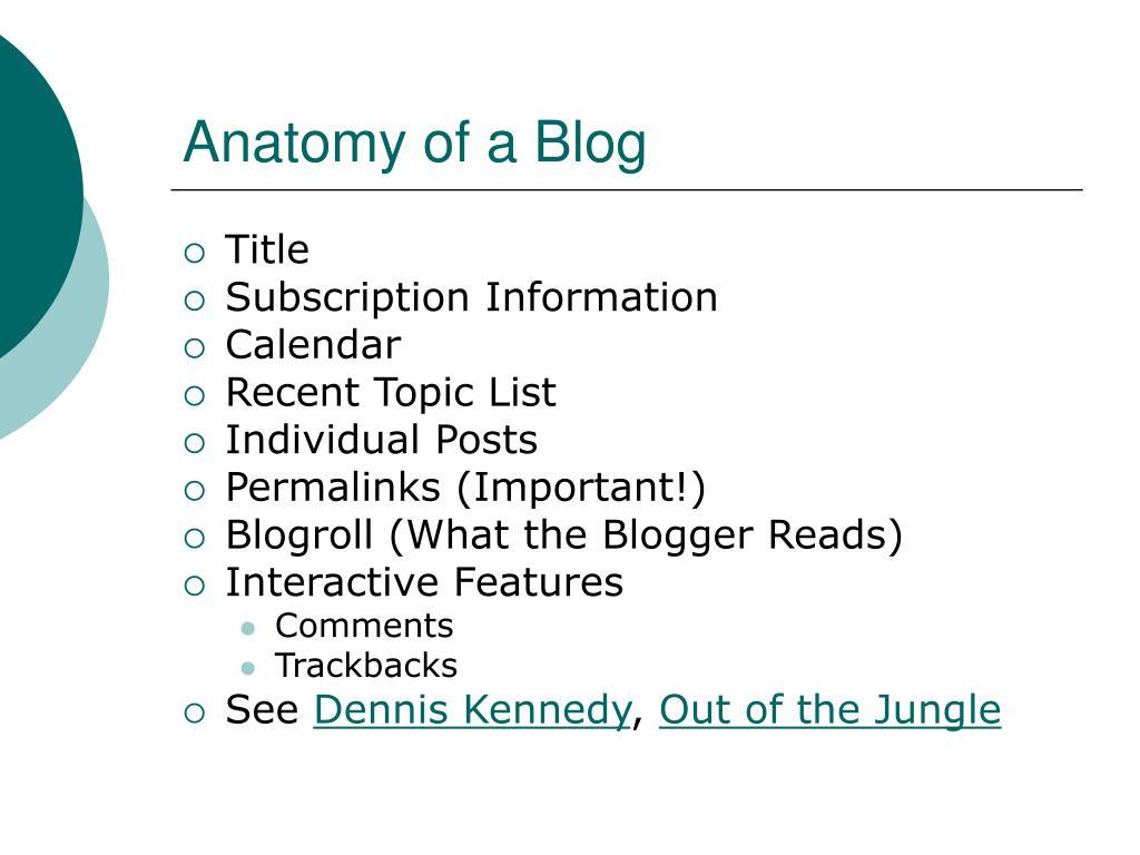 Anatomy of a Blog
