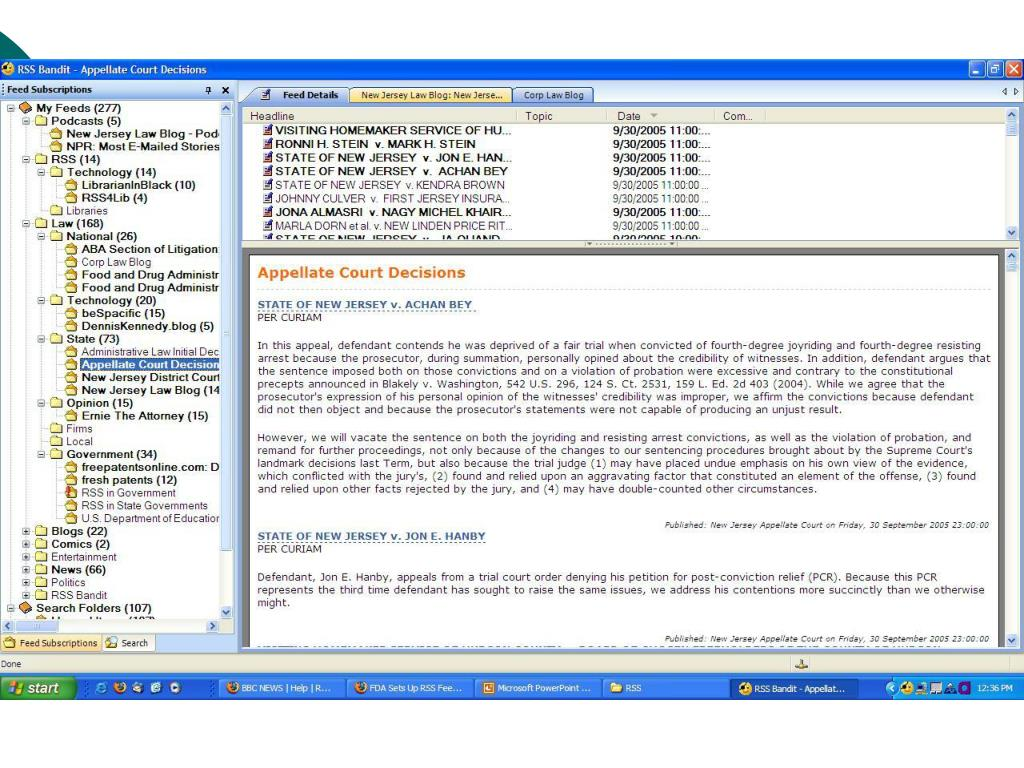 Desktop Tool – RSS Bandit