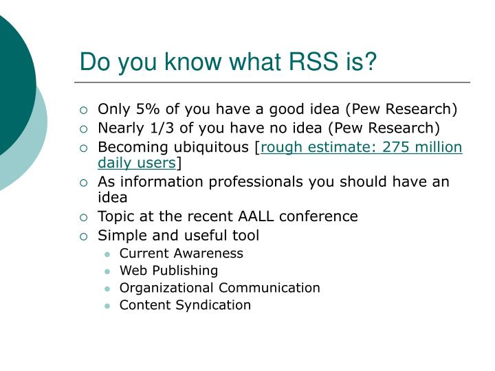 Do you know what rss is