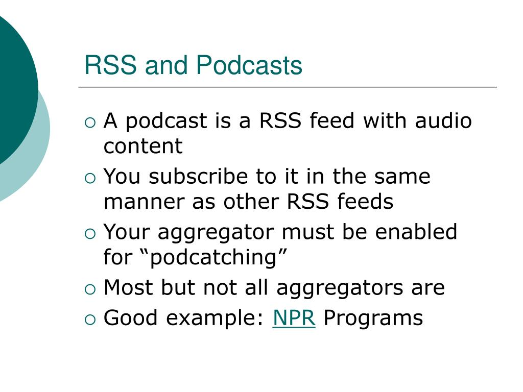 RSS and Podcasts
