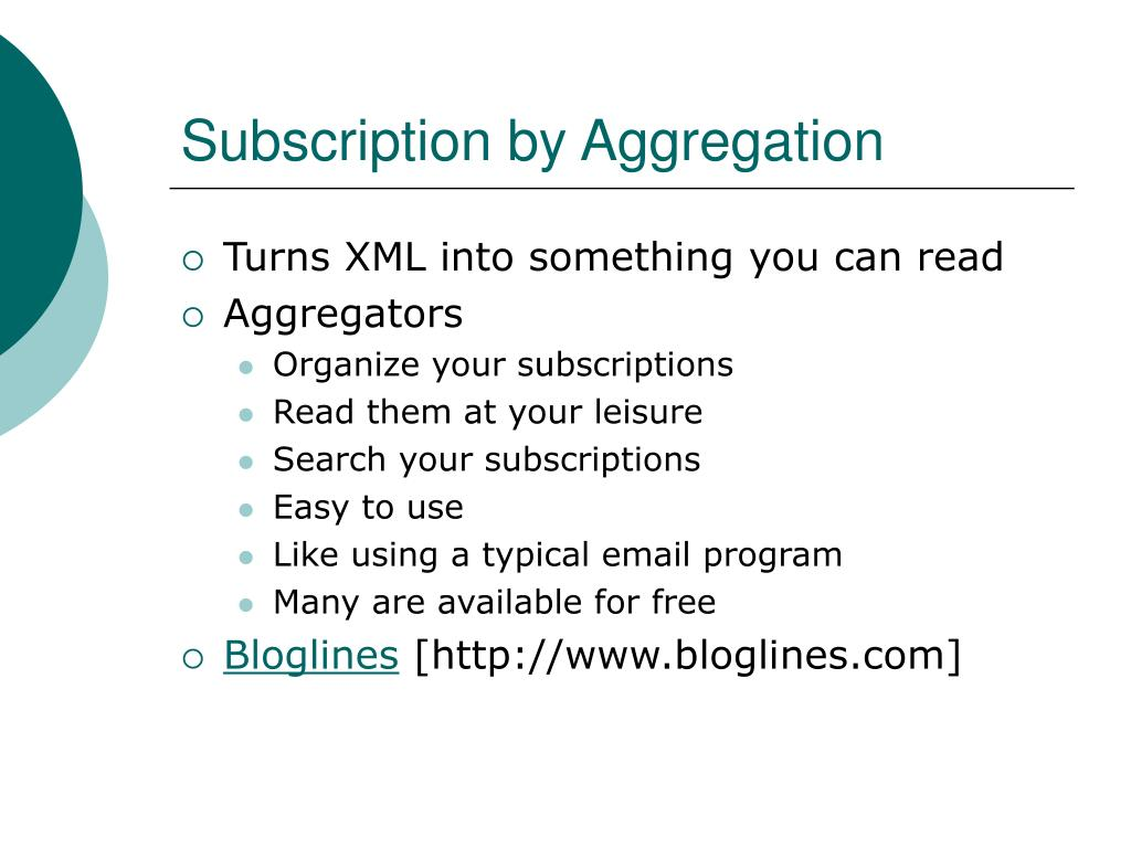 Subscription by Aggregation