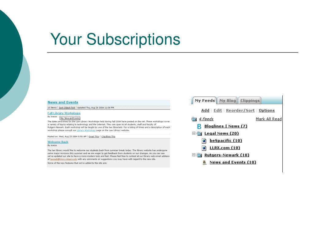 Your Subscriptions