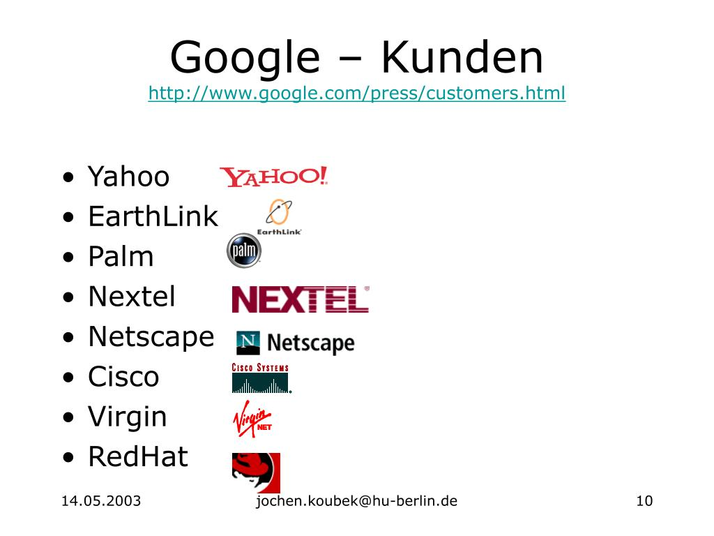 Google – Kunden