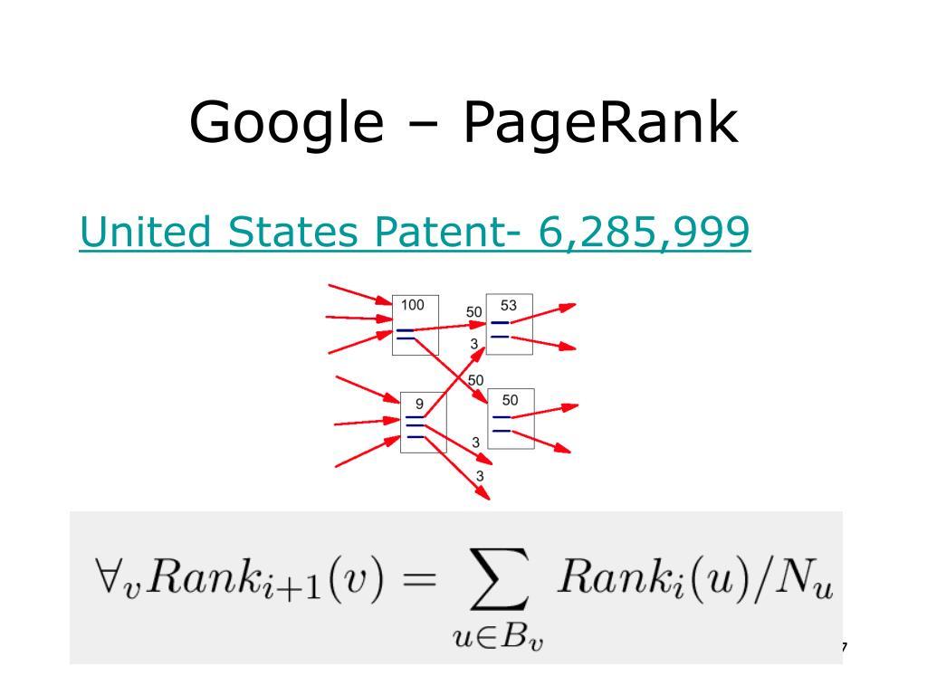 Google – PageRank