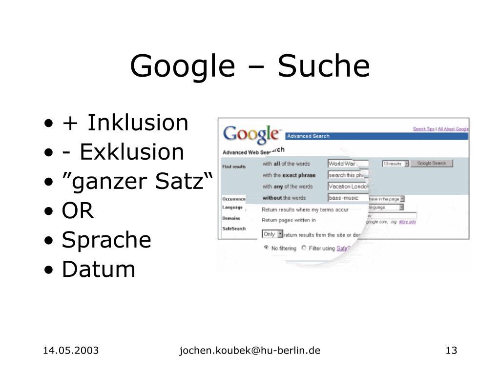 Google – Suche