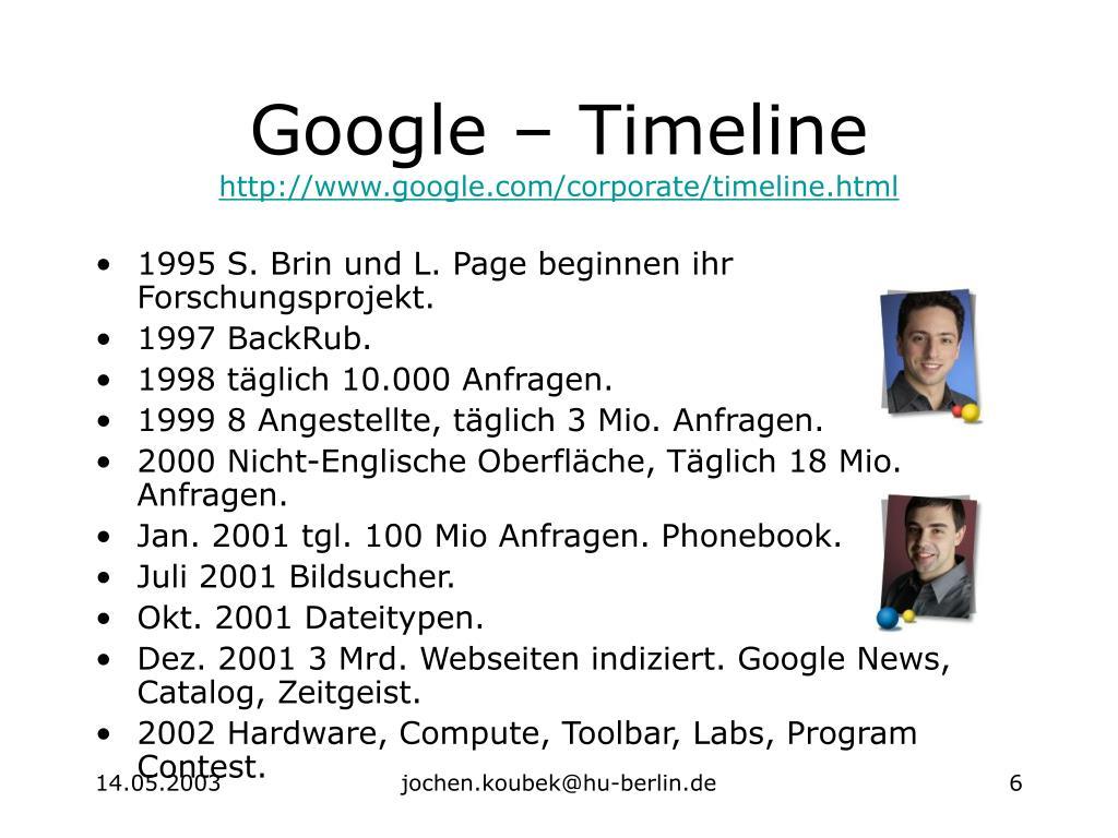 Google – Timeline