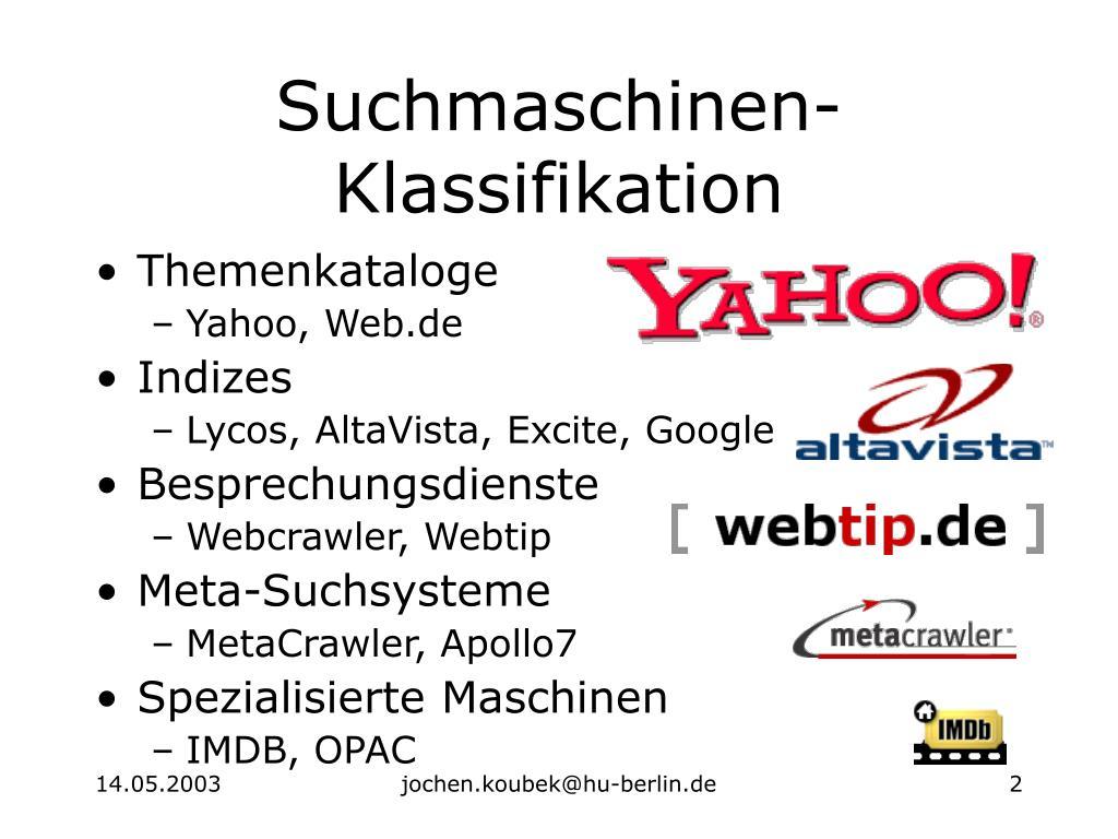 Suchmaschinen-Klassifikation