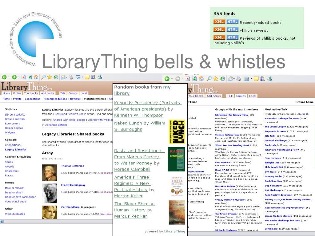 LibraryThing bells & whistles