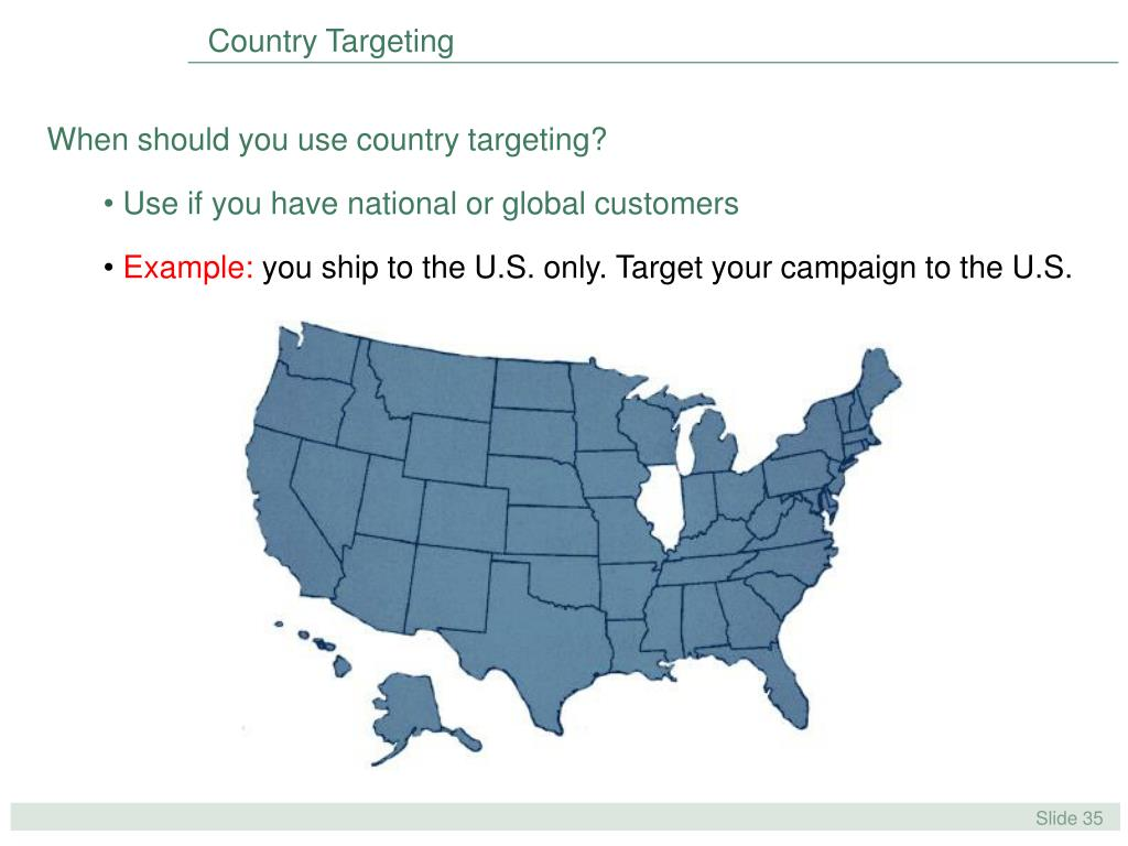 Country Targeting