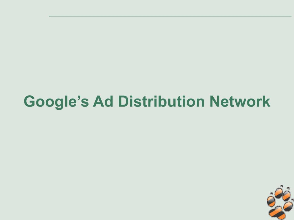 Google's Ad Distribution Network