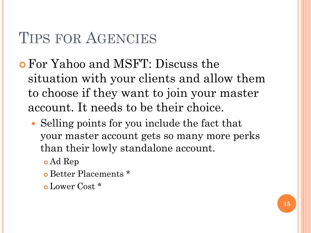 Tips for Agencies
