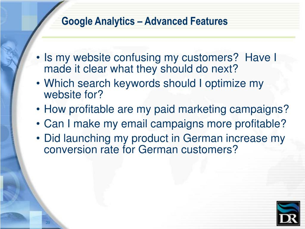 Google Analytics – Advanced Features