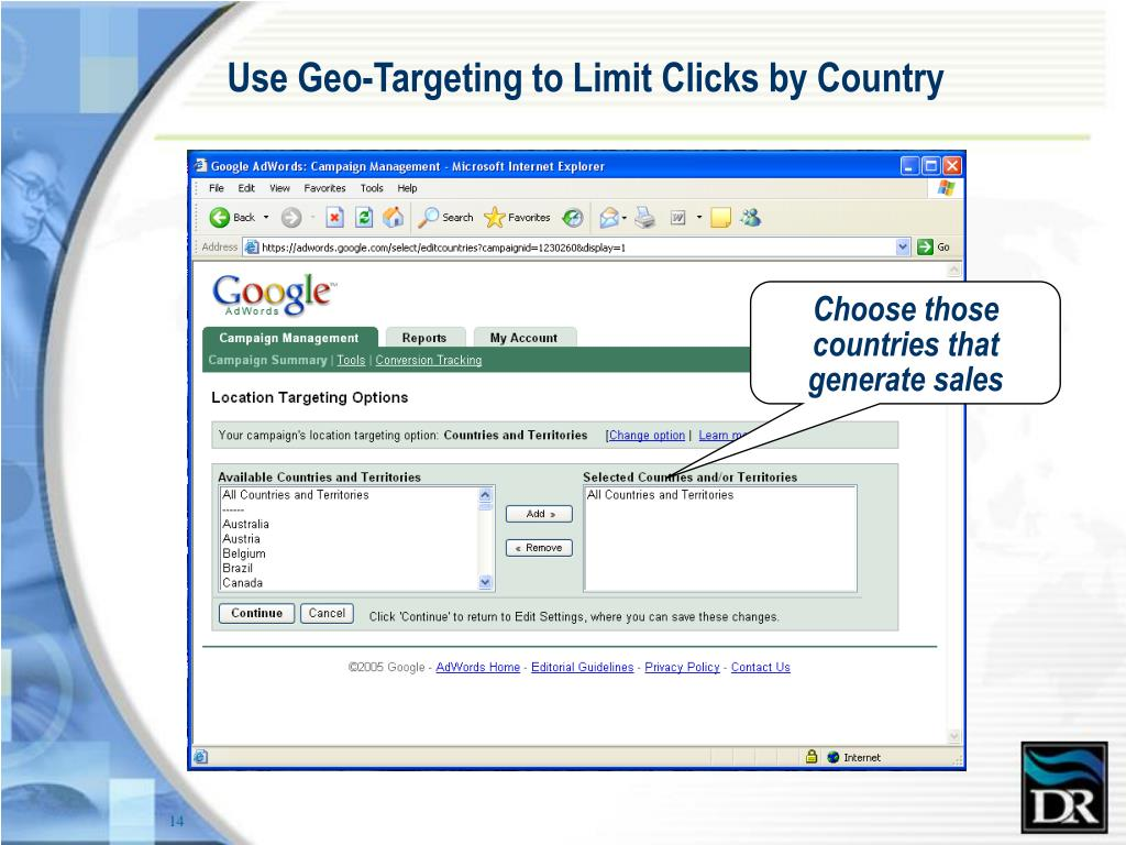 Use Geo-Targeting to Limit Clicks by Country