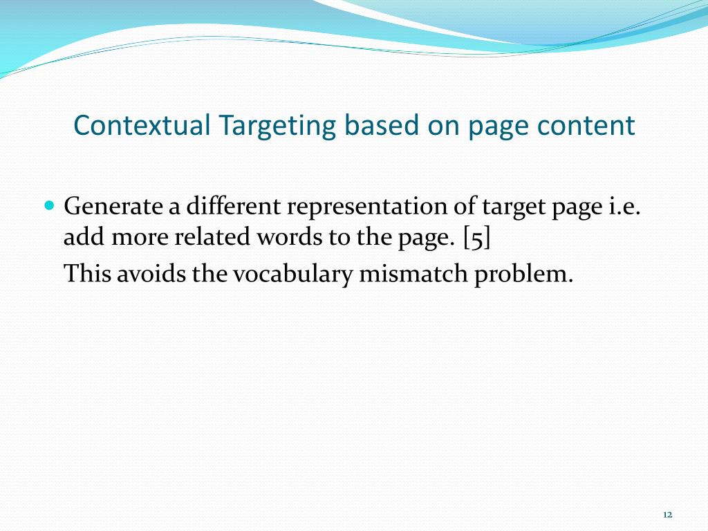 Contextual Targeting based on page content