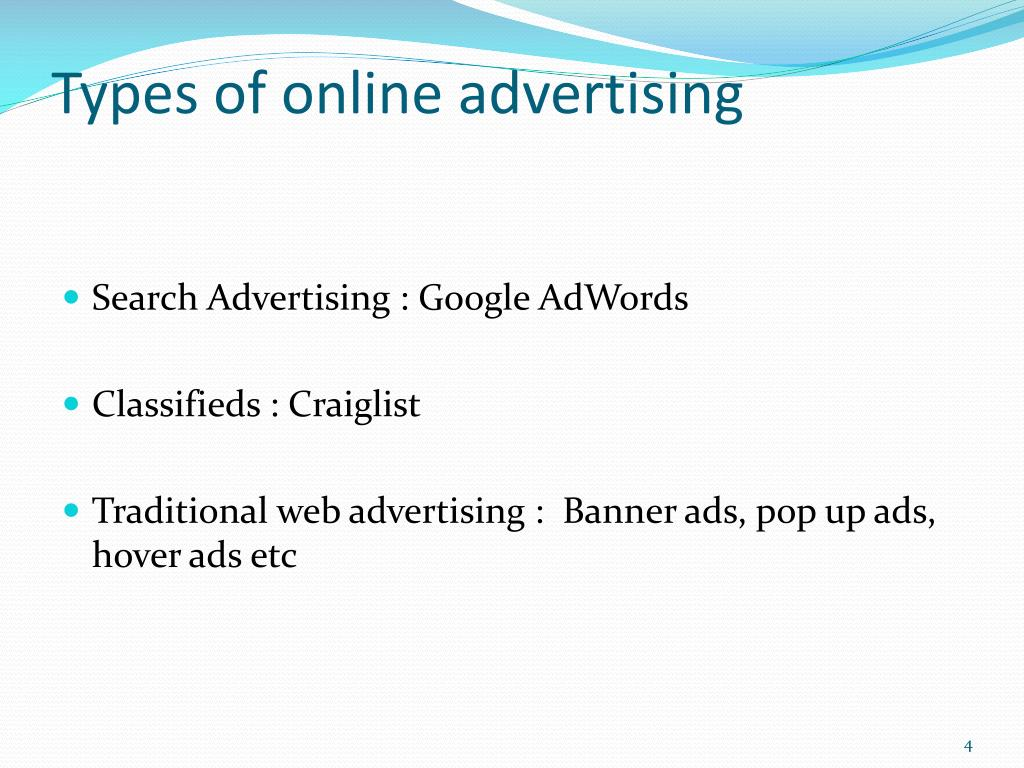 Types of online advertising