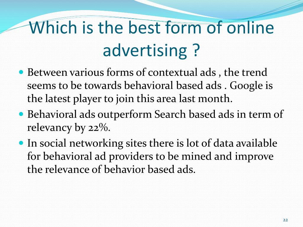 Which is the best form of online advertising ?